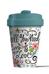 Mug/Thermos en bambou 400 ml – All you need is love