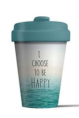 Mug/Thermos en bambou 400 ml – Choose to be happy