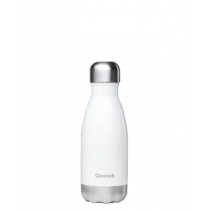 Qwetch – Bouteille isotherme 260 ml – Blanc brillant