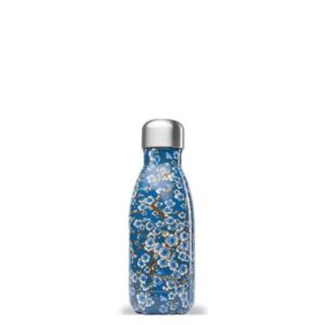 Qwetch – Bouteille isotherme 260 ml – Fleures bleues