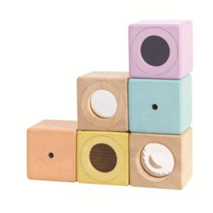 PlanToys – Blocs de stimulation sensorielle 12 +