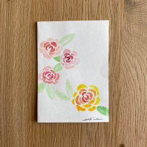 Carte de voeux – Roses