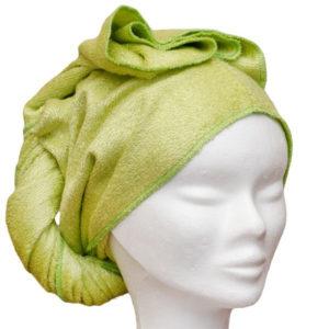 Les tendances d'Emma – Serviette à cheveux – Verte