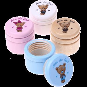 Boîte à dent de lait ourson – Blanc