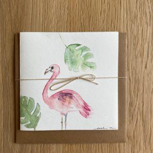 Carte de voeux – Flamant rose