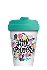 Mug/Thermos en bambou 400 ml – Girl power