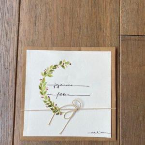 Carte de voeux – Joyeuses Fêtes – Branche de houx