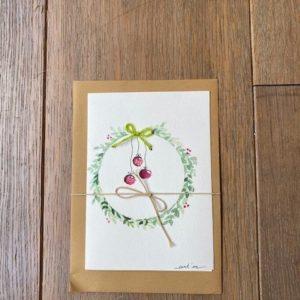 Carte de voeux – Boules de Noël
