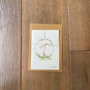 Carte de voeux – Merry Christmas – Bougie
