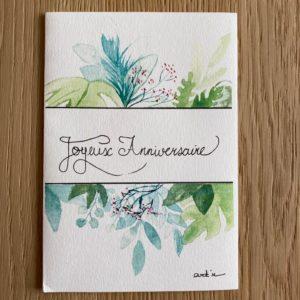 Carte de voeux – Joyeux Anniversaire – Feuillage