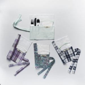 Kit à lunch avec couverts et serviette – ROSE