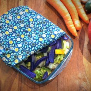 Eco-tsapi – Emballage à la cire d'abeille rectangle – Assortiment de 3 pièces (S, M et L)