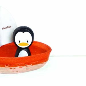 PlanToys – Bateau à voile – Pingouin