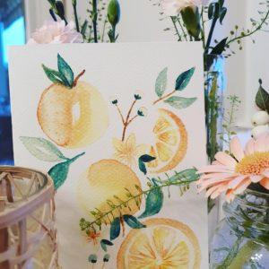Carte de voeux – Oranges