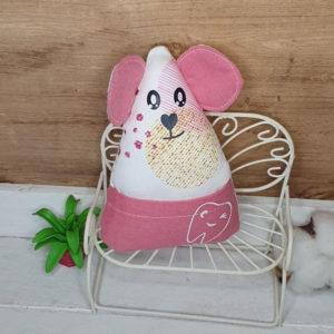 Petite souris à dent de lait – Rose avec ronds