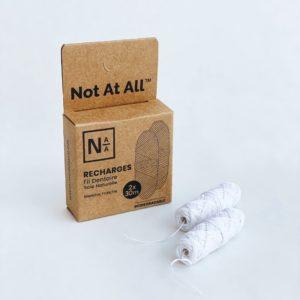 NotAtAll – Recharge fil dentaire en soie naturelle – 2 bobines