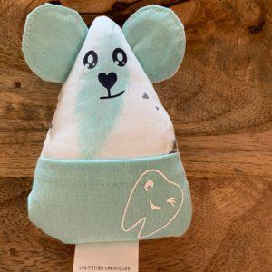 Petite souris à dents de laits – Plumes turquoises