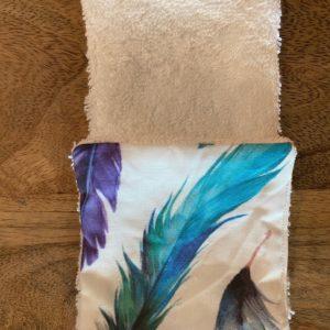LutryNature – Lingette à démaquille coton et éponge – Plumes/Blanches