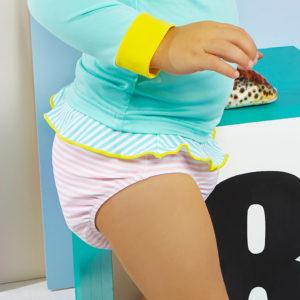 Ki et la – Culotte de bain anti-UV –  Annette Stripe Pink