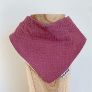 Pinkpoulet bavoir en double gaze 0-2 ans – Violet