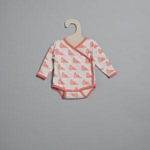 L'asticot – Body en coton BIO – Morses corail – 1 mois