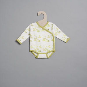 L'asticot – Body en coton BIO – Sapins verts – 1 mois
