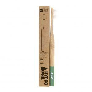 Brosse à dent en bambou – MEDIUM – Verte