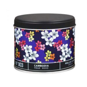 Hello Candle – Bougie – Cambodia Teak Wood n°003