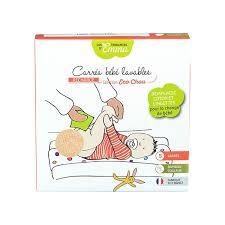 Les tendances d'Emma – Carrés bébé lavables 5 pces – Eucalyptus biface
