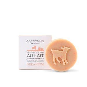 Cocooning – Savon au lait de chèvre – Géranium