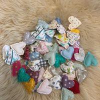 Coeur en tissu pour sac à bisous