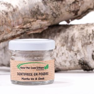 Natur'mel – Dentifrice en poudre 17 gr – Menthe bio et siwak