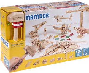 Matador – Jeu de construction en bois E407 – Dès 5 ans (407 pièces)