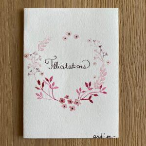 Carte de voeux – Félicitations – Couronne de cerisier