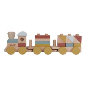 Little Dutch – Train en bois à blocs (Plusieurs coloris)