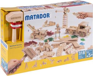 Matador – Jeu de construction en bois (E318) 318 pces – Dès 5 ans