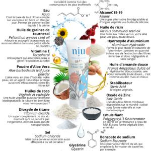NIU – Crème solaire adultes et enfants, Visage et corps – SPF 30, 30ml