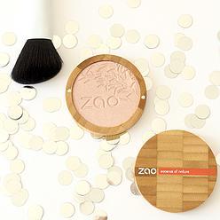 Zao Make-up – Shine-up powder (enlumineur) – Champagne rosé n°310