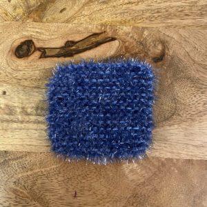 Petite éponge lavable – Bleu