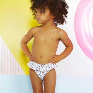 Ki et la – Culotte de bain anti-UV –  Annette Zigzag Pink